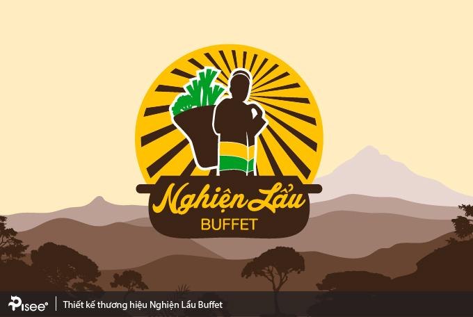 thiết kế logo nhà hàng nghiện lẩu buffet