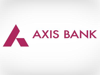 hình tam giác trong thiết kế logo axis bank